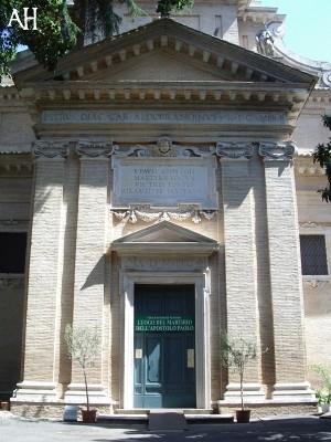 IL LUOGO DEL MARTIRIO DI SAN PAOLO - L'ABBAZIA DELLE TRE FONTANE 3F_Martirio_SPaolo